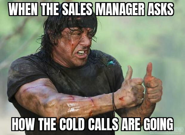 cold calling is frustrated
